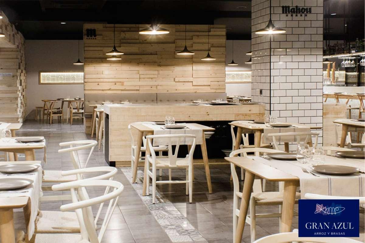 Sfeerbeeld van paella restaurant Gran Azul in Valencia