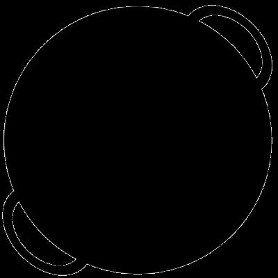 Paella pan icon