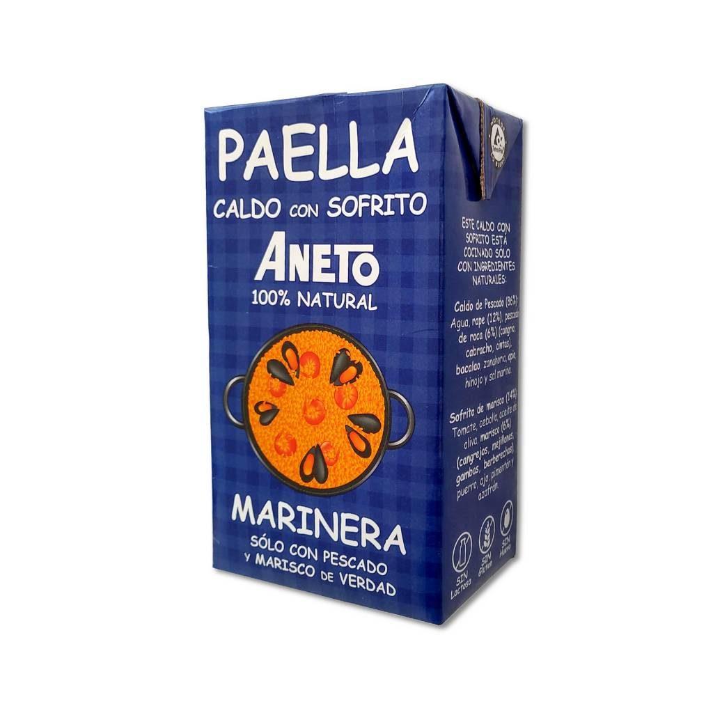 Paella Bouillon voor Paella met Zeevruchten