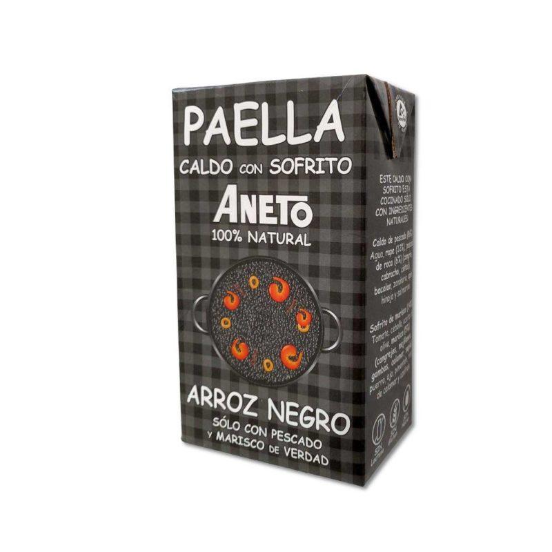Zwarte Paella Bouillon voor Arroz Negro.
