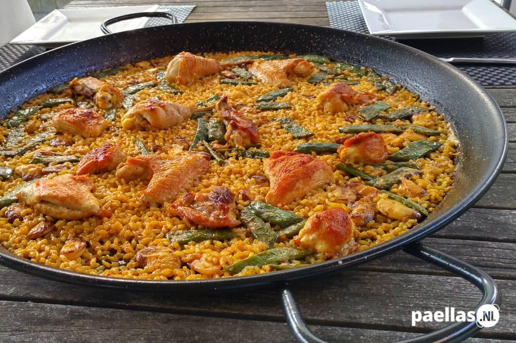 Paella met Kip recept Paella de Pollo recept