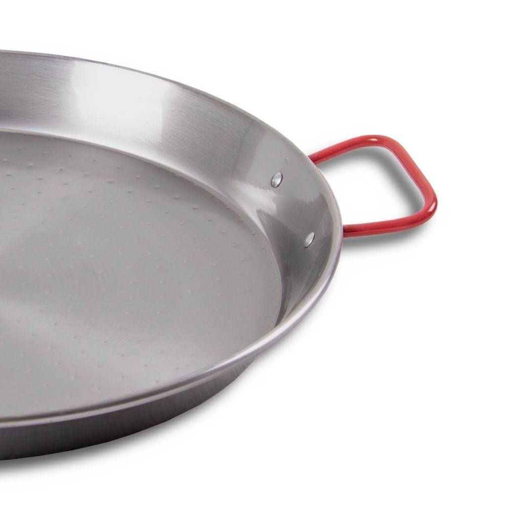 Paella Pan staal handgreep en afwerking