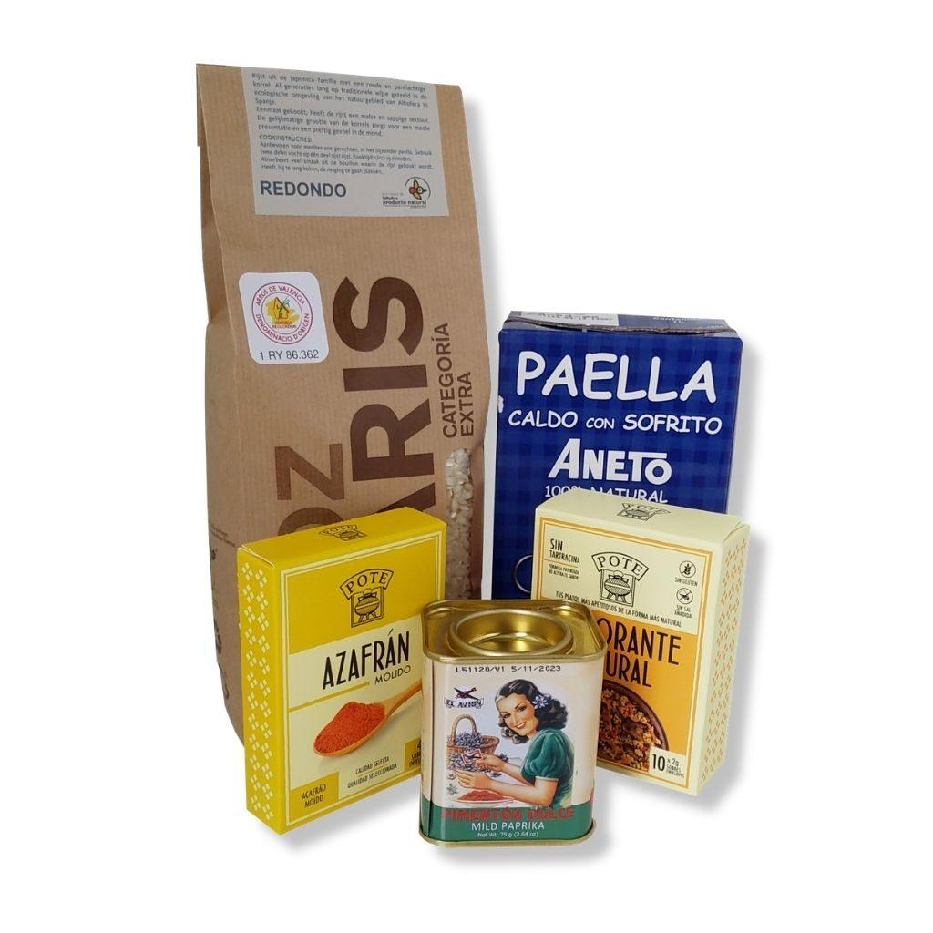 Paella met Zeevruchten Ingrediënten pakket