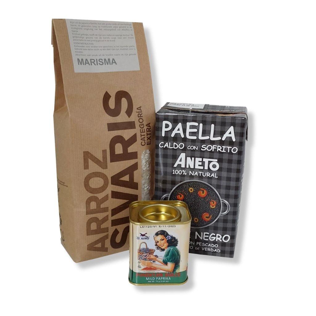 Zwarte Paella Ingrediënten Pakket